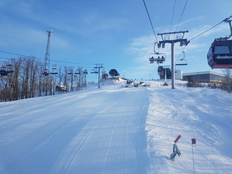 Une belle soirée à ski Bromont en ce jeudi 4 mars 2021