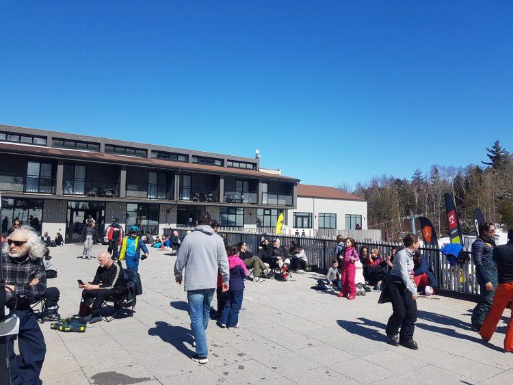 Ski Mont Owl's Head — il fait 12 degrés celcius en ce 21 mars, le printemps est arrivé!