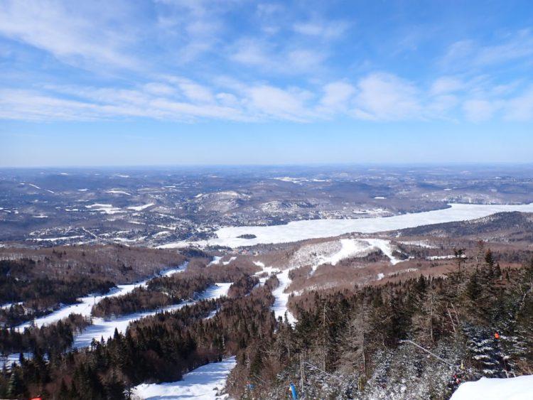 Skier par un froid de canard
