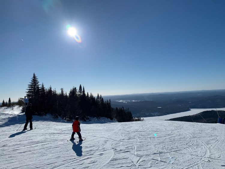 Soleil et conditions incroyables, Mont Tremblant, 2021-03-08